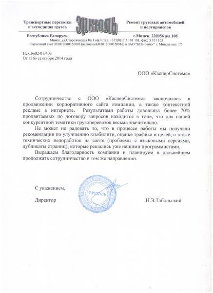 Н. Э. Табольский, директор транспортной компании Logistory
