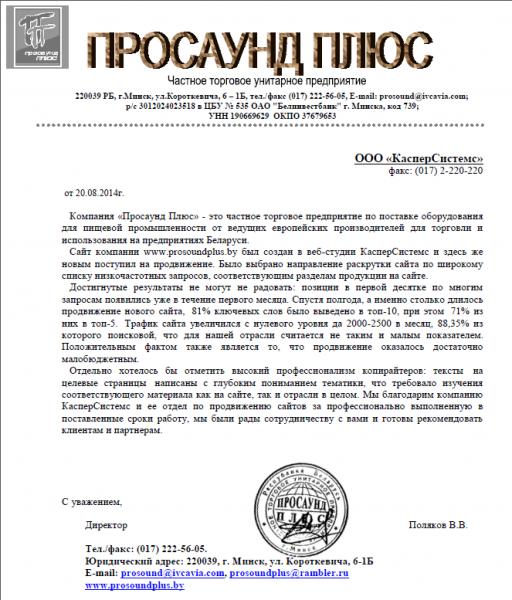 """Поляков В.В., директор ЧУП """"Просаунд плюс"""""""